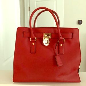 Large Michael Kors handbag gently used